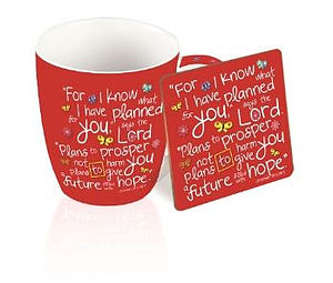 For I Know the Plans Mug and Coaster Set