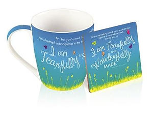 I Am Fearfully and Wonderfully Made Mug and Coaster Set