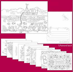 Images of Hope Colouring Postcards