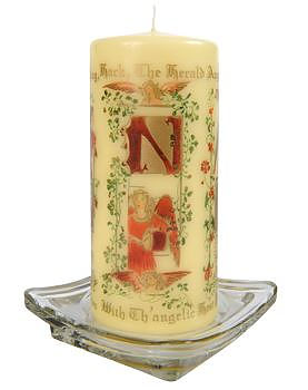 Musical Angels Pillar Candle