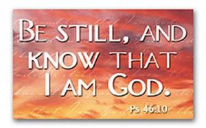 """""""Be Still and Know"""" Pass-Around Cards"""