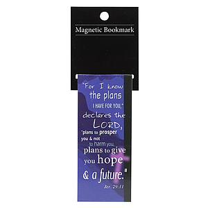 For I Know the Plans (Blue) Magnetic Bookmark