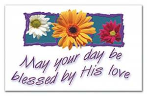 """""""May Your Day Be Blessed"""" Pass-Around Cards"""