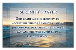 """Serenity Prayer"" Pass-Around Cards"