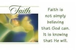 """""""Faith"""" Pass-Around Cards"""