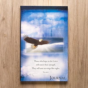 On Eagles' Wings (Blue) Flexcover Journal