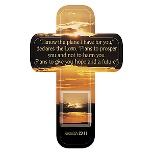 """Jer. 29:11"" Paper Cross Bookmark Pack of 12"