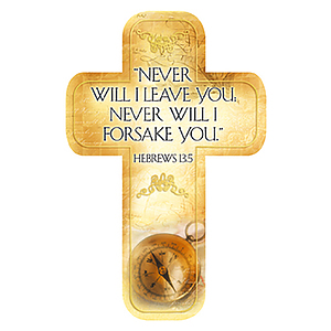 """Hebrews 13:5"" Paper Cross Bookmark Pack of 12"