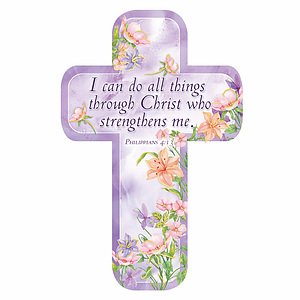 """""""I Can Do"""" (Purple) Paper Cross Bookmark Pack of 12"""