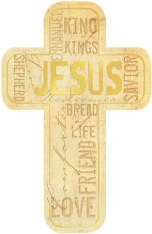 """Names of Jesus"" Paper Cross Bookmark Pack of 12"