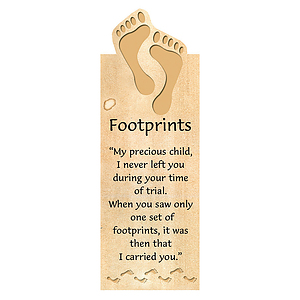 Footprints (Tan) - Magnetic Bookmark