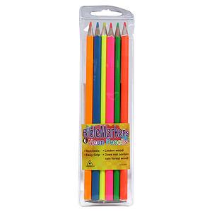 Neon Mixed Blackwood Bible Marker Pencils