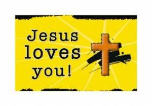 """Jesus Loves You"" (Yellow) Pass-Around Cards"