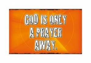 """God is Only a Prayer Away"" (Orange) Pass-Around Cards"