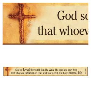 John 3:16 - Magnetic Strip