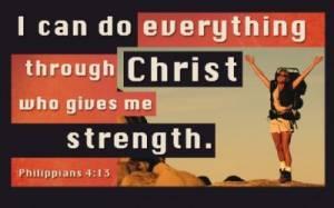 """Philippians 4:13"" 25 Pass-Around Cards"