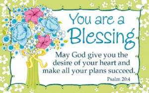"""""""You Are a Blessing"""" Pass-Around Cards"""