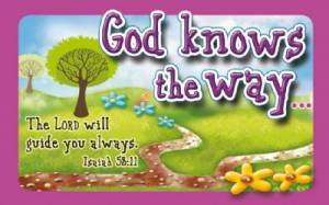 """God Knows the Way"" Pass-Around Cards"