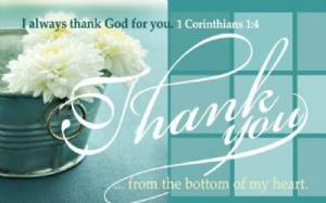 """Thank You"" (Teal) Pass-Around Cards"