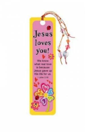"""Jesus Loves You"" Bookmarks w/ Charm"