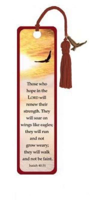 """Isaiah 40:31"" Bookmarks w/ Charm"