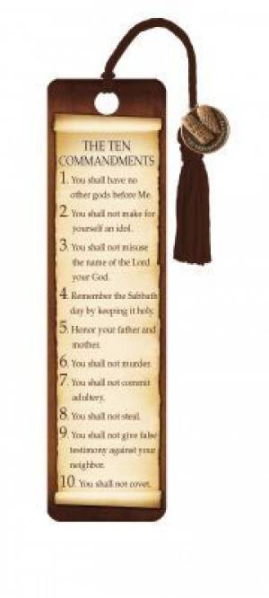 Ten Commandments - Bookmarks w/ Charm