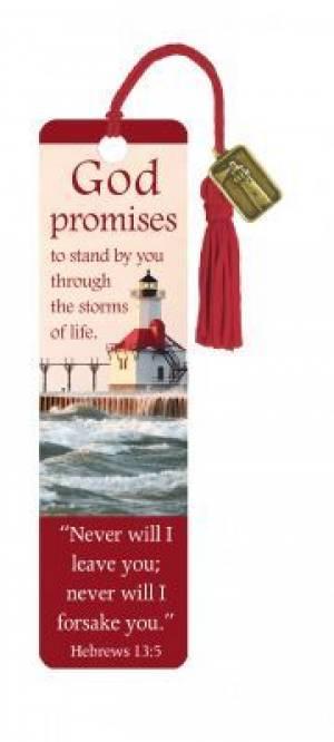 """Hebrews 13:5"" Bookmarks w/ Charm"