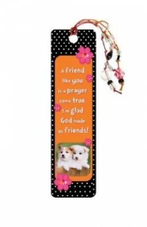 """""""A Friend Like You"""" Bookmarks w/ Charm"""