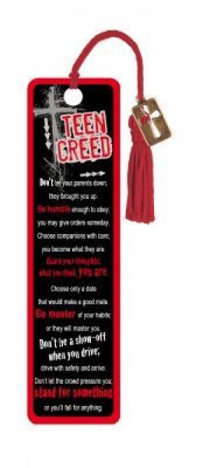 """Teen Creed"" Bookmarks w/ Charm"