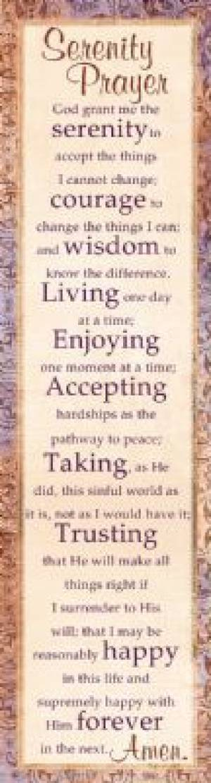 """Serenity Prayer"" Bookmarks"