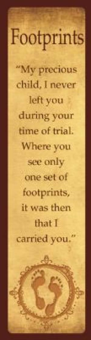"""""""Footprints"""" (Tan) Bookmarks"""