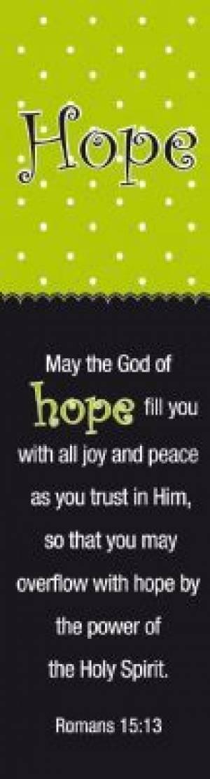 """Hope"" (Green/Black) Bookmarks"