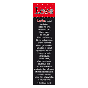 """Love"" (Red/Black) Bookmarks - Pack of 10"
