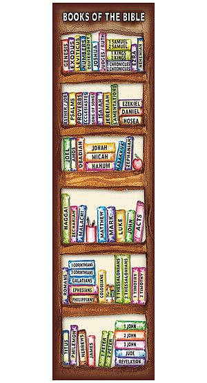 """'Books of the Bible"""" Bookmarks - Pack of 10"""