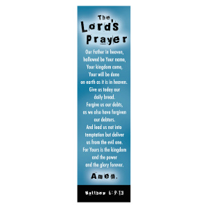 """Lord's Prayer"" (Blue) Bookmarks - Pack of 10"