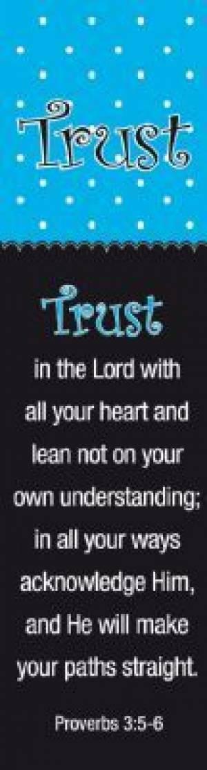 """Trust"" (Blue/Black) Bookmarks"