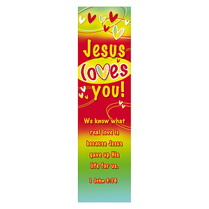 """""""Jesus Loves You"""" Bookmarks (Pack of 10)"""
