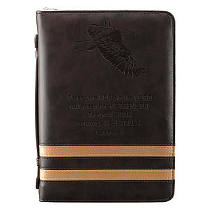 Isaiah 40:31 (Brown) Medium Bible Cover- Medium