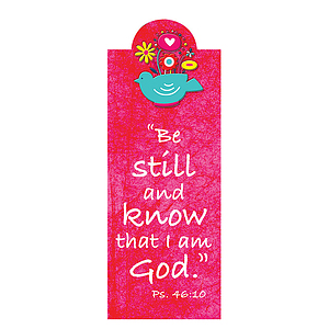 """Be Still"" (Pink)Magnetic Bookmark"