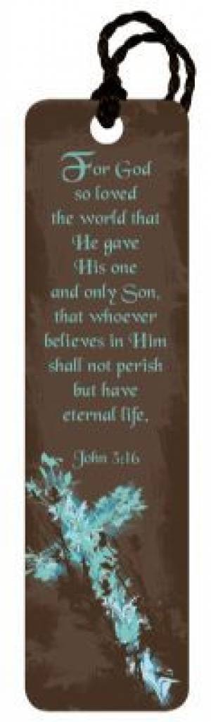 """""""John 3:16"""" (Brown) Tassle Bookmark"""
