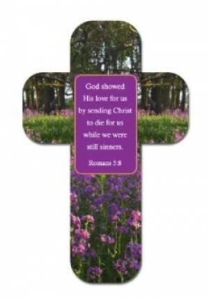 """God Shows His Love"" Paper Cross Bookmark Pack of 12"