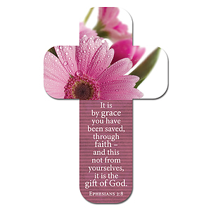 """Flower"" (Pink) Paper Cross Bookmark Pack of 12"