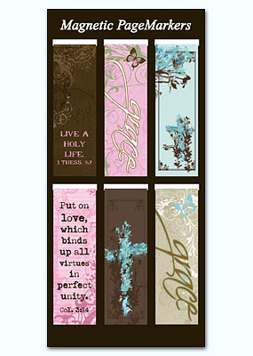 Grace Magnetic Page Markers - Pack of 6