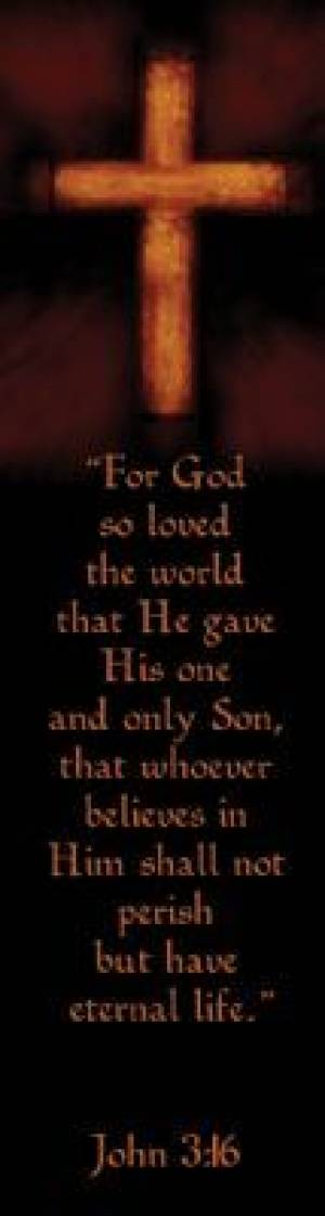 """John 3:16"" (Brown) Bookmarks"