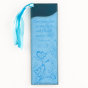 Psalm 55:22 - Faux Leather Bookmark
