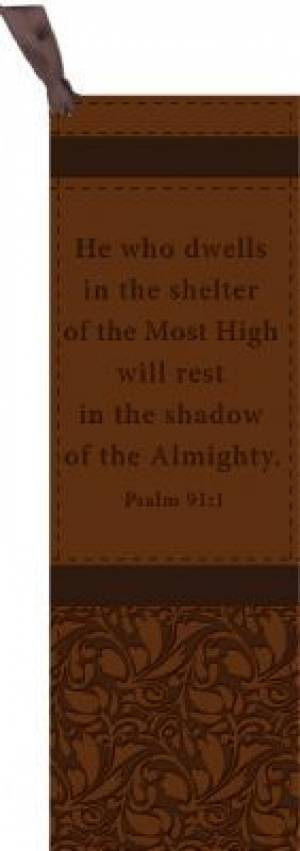 Psalm 91:1 - Faux Leather Bookmark
