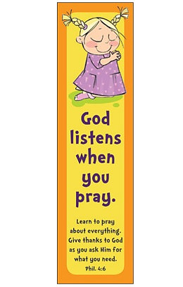 """God Listens"" (Yellow) Bookmarks - Pack of 10"