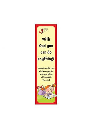 With God Bookmark - Pack of 10