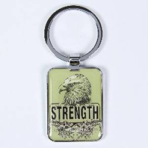 Strength - Metal Keyring