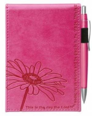 Pink Pocket Notepad w/Pen - Psalm 118:24